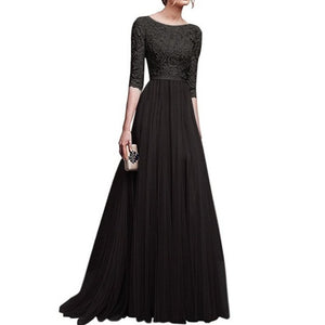 Cocktail Ball Floor High Wedding Wedding Casual Waist Party Women Lace Full Gown Pleated etc Dress Length Patchwork Plus Size