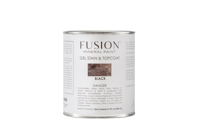 Fusion™ Mineral Paint Gel Stain & Topcoat | Black - Prairie Revival