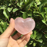 Natural Rose Quartz Heart | Size: approximate 6/6.5 cm by Thickness: approximate 2/2.5cm