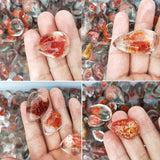 Natural Polished Red Ghost Moss Agate | 1 Piece | 2-3.5cm  |  0.79-1.38in
