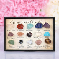 Mini Natural Stone Set Display Stone size: approx. 10mm/0.39'' - 15 stones