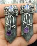 Labradorite | Opal | Amethyst Crystal Pendants | lot (10 pieces)