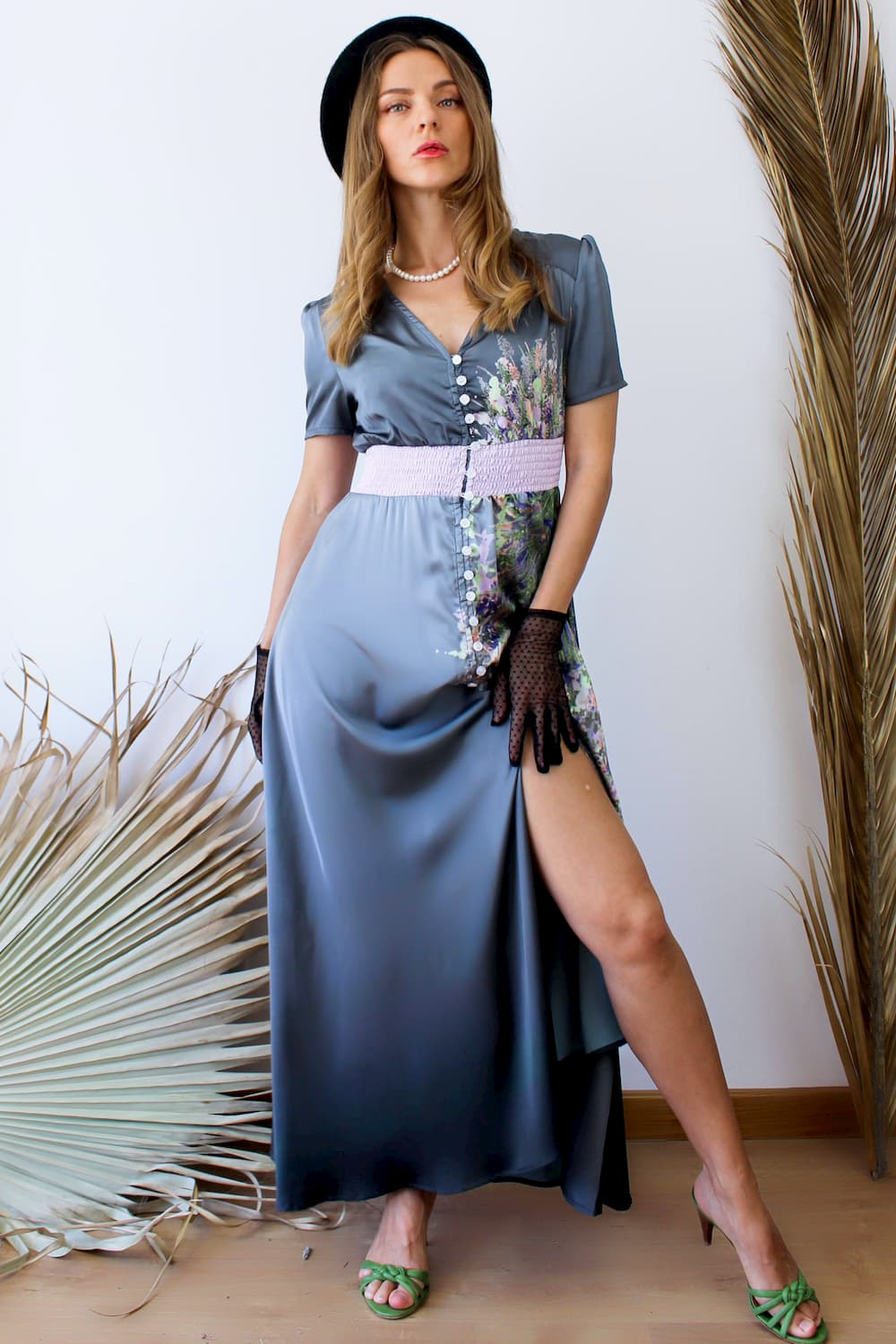 French Style Long Flared Dress