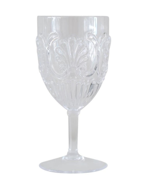 Acrylic Wine Glass Scollop