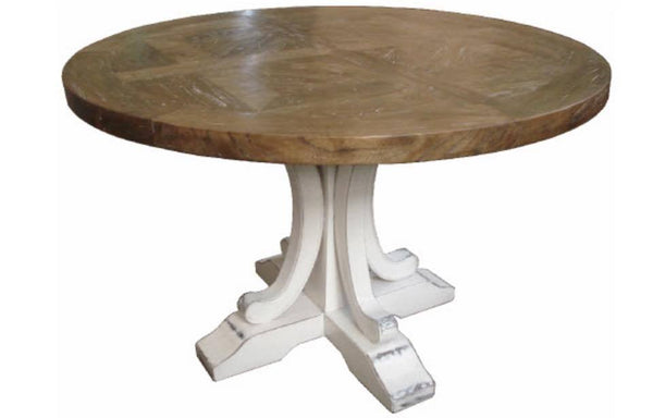 Pedestal Dining Table 140cm White Leg