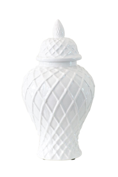 Weave Ceramic Temple Jar Small