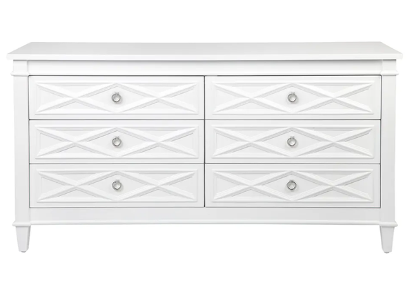 Plantation 6 Drawer Chest White