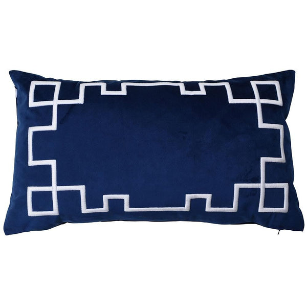 Palm Springs Navy Rectangle Cushion