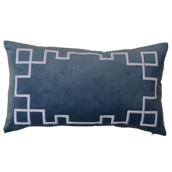Palm Springs Vintage Blue Rectangle Cushion