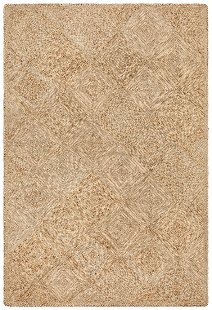 Layla Hatch Natural Rug