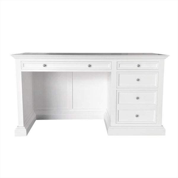 French Panel Desk White