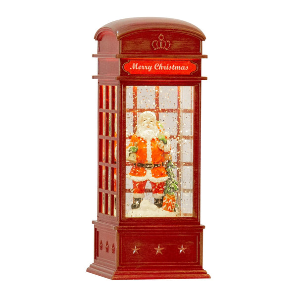 Plastic Musical LED Red Phone Box