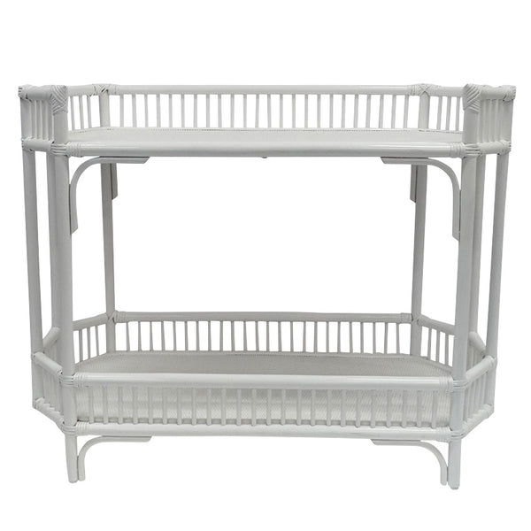 Crawford Bar Caddy Console White