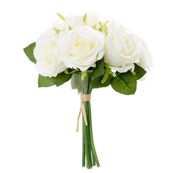 Rose Bouquet 25cm White