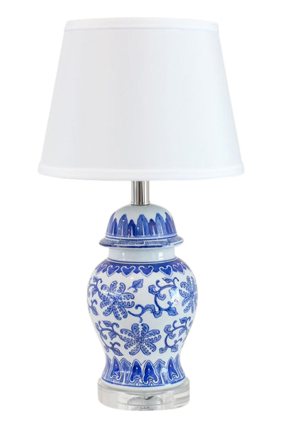 Harlow Lamp with White Shade
