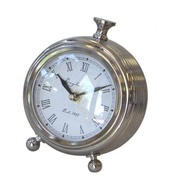 Round Ribbed Hamptons Living Clock