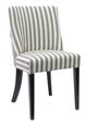 Black/White Upholstered Dining Chair