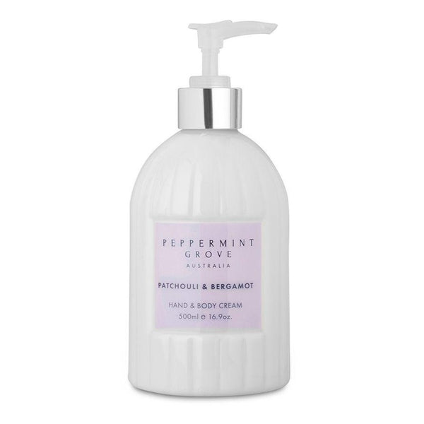Peppermint Grove Patchouli & Bergamot Hand & Body Cream