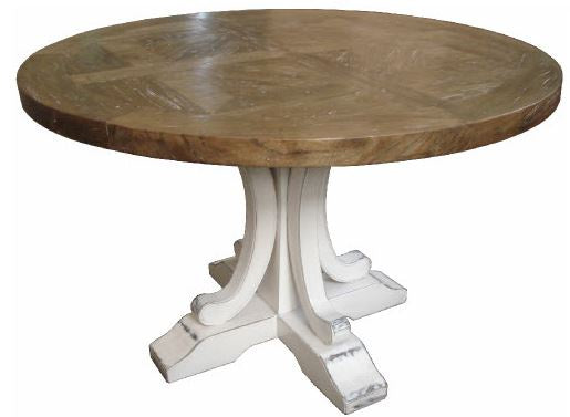 Pedestal Dining Table White Leg Round 150cm