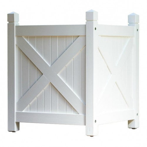 Planter Box Timber White 50cm