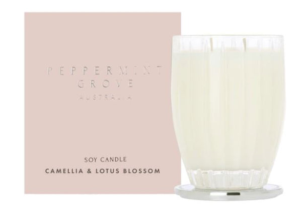 Peppermint Grove Camellia & Lotus Blossom Candle 350g