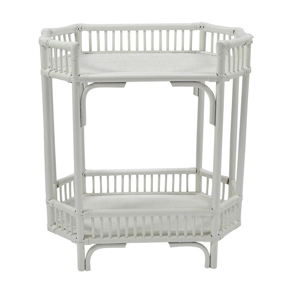 Crawford Rattan Bar Caddy White