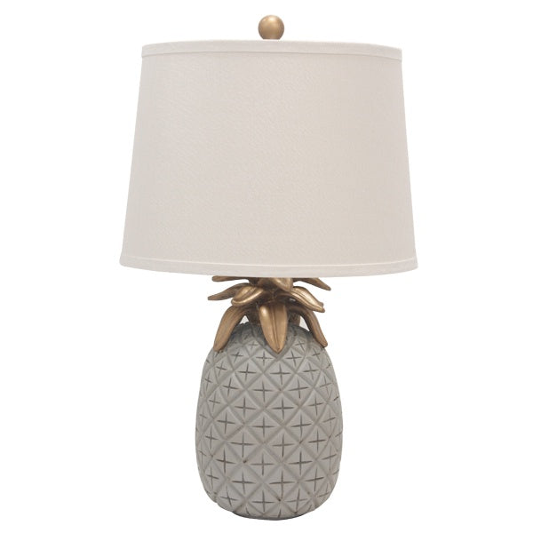 Pineapple Pale Grey Table Lamp