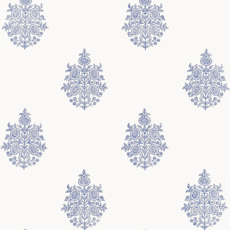 Asara Flower Delft Wallpaper