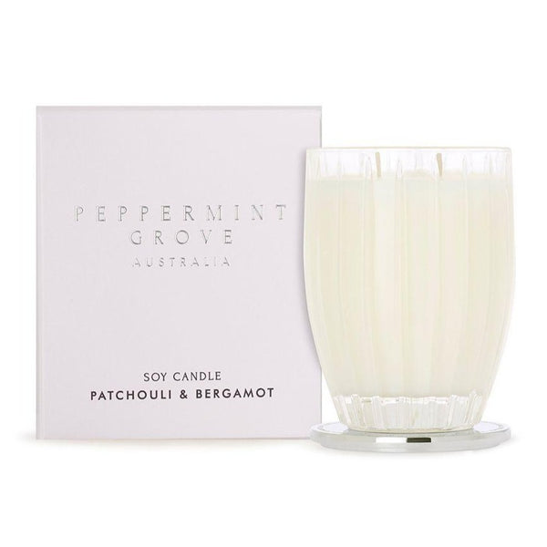 Peppermint Grove Patchouli & Bergamot Candle 350g
