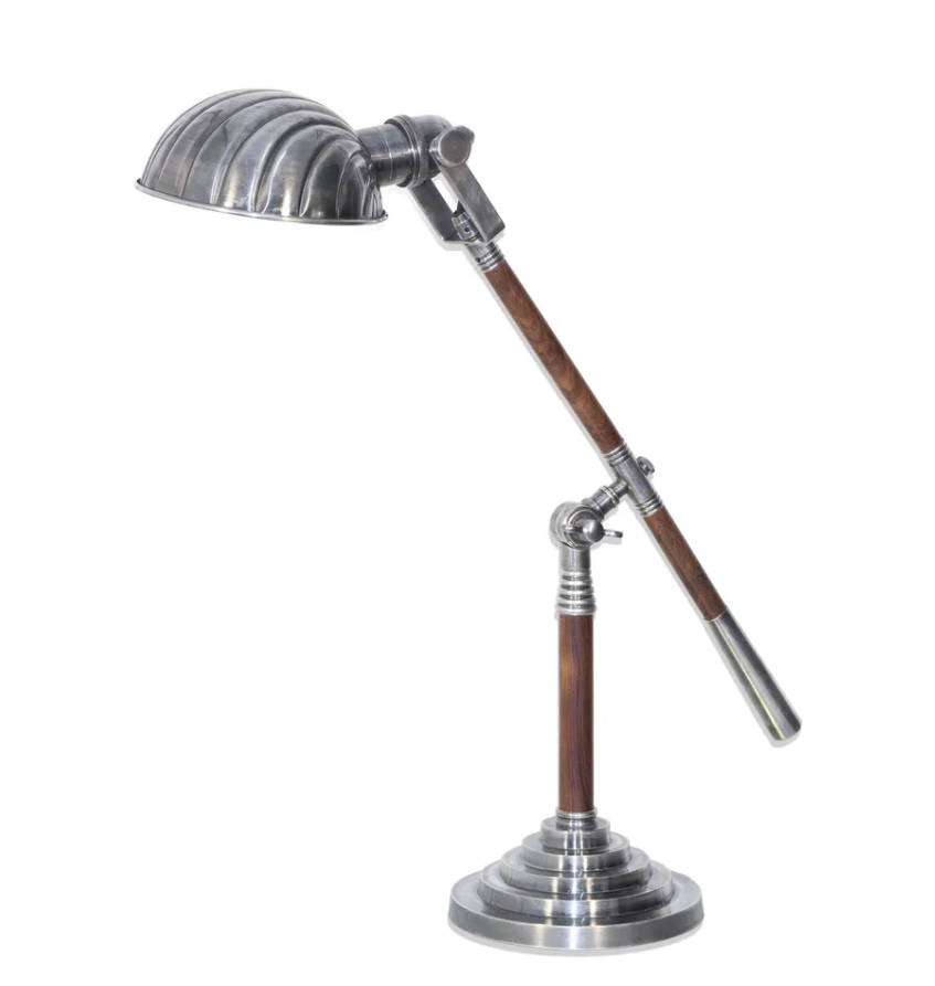 Hartford Adjustable Desk Lamp Antique Silver