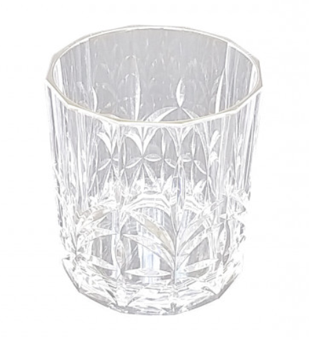 Acrylic Crystal Cut Tumbler Clear