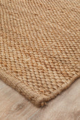 Basketweave Natural Rug