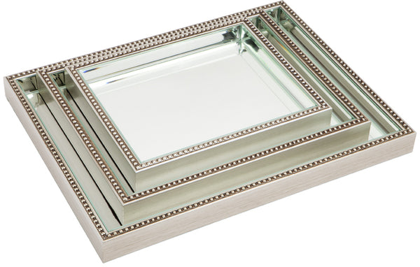 Beaded Mirror Tray
