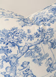 Toile Blue Cushion