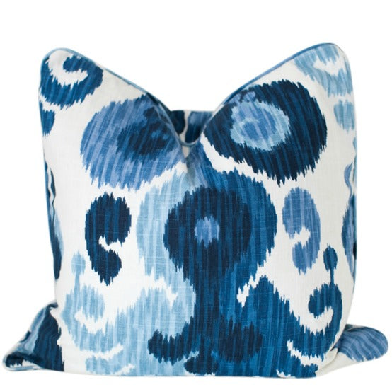 Indigo Ikat Cushion