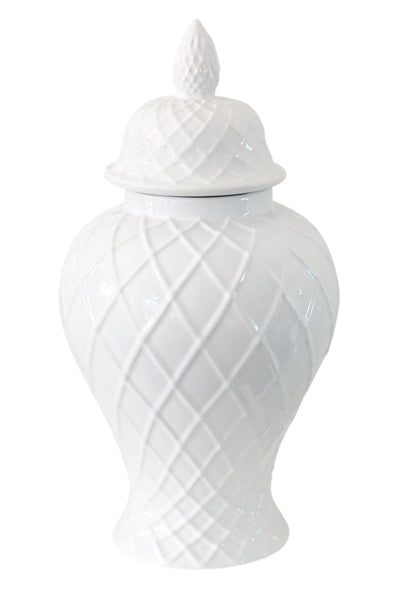 Weave Ceramic Temple Jar Large