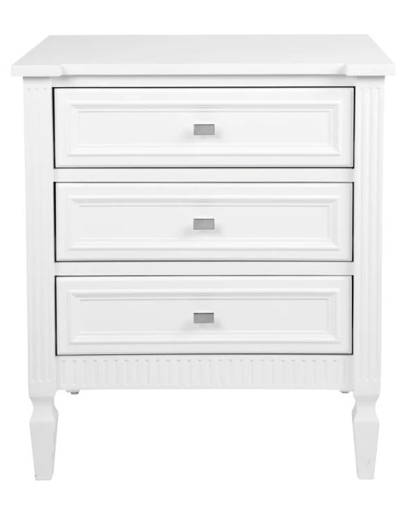 Merci Bedside Table White Large