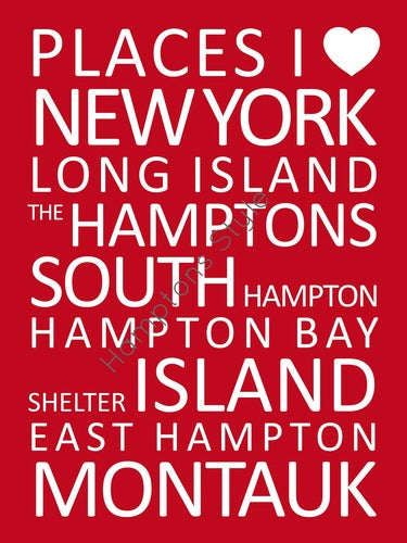 Hamptons Print Red
