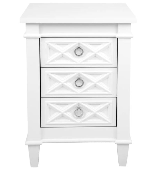 Plantation Bedside Small White