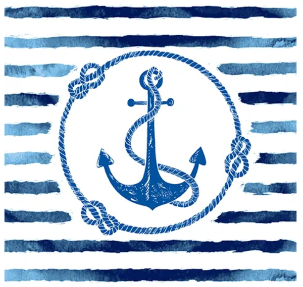 Anchor Stripe 20pck Napkin