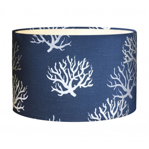 Coral Indigo Fabric Shade