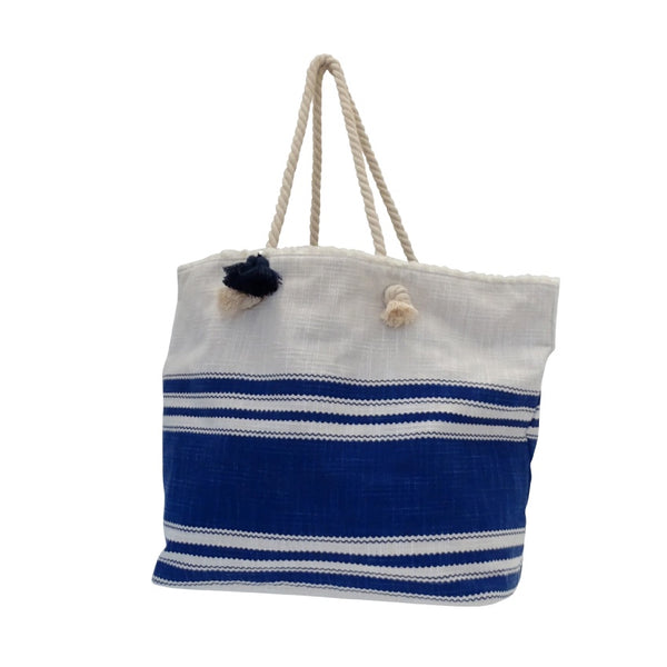 Nautical Denim Beach Bag