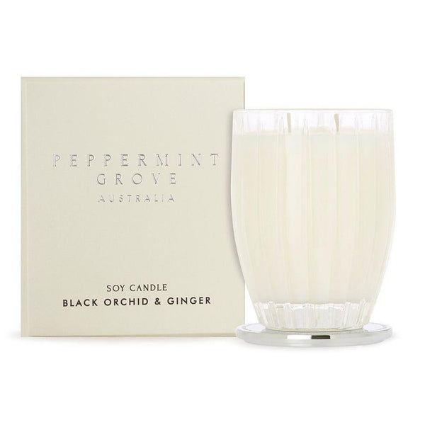 Peppermint Grove Black Orchid & Ginger Candle 350g