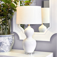 Bronte Table Lamp White