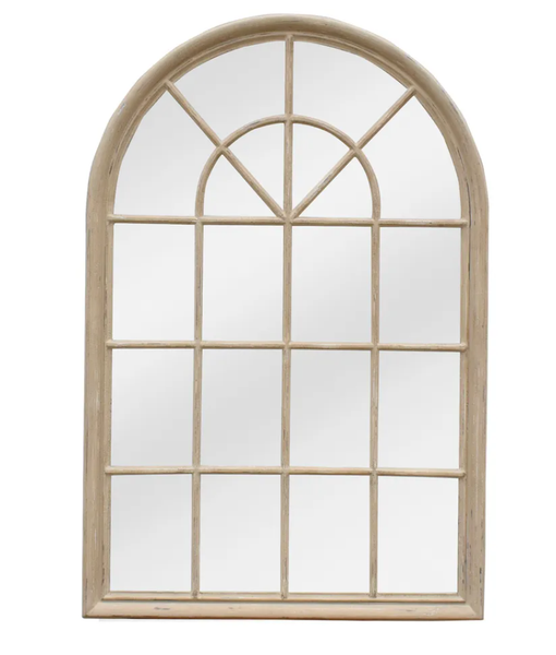 Hamptons Arched Mirror Natural