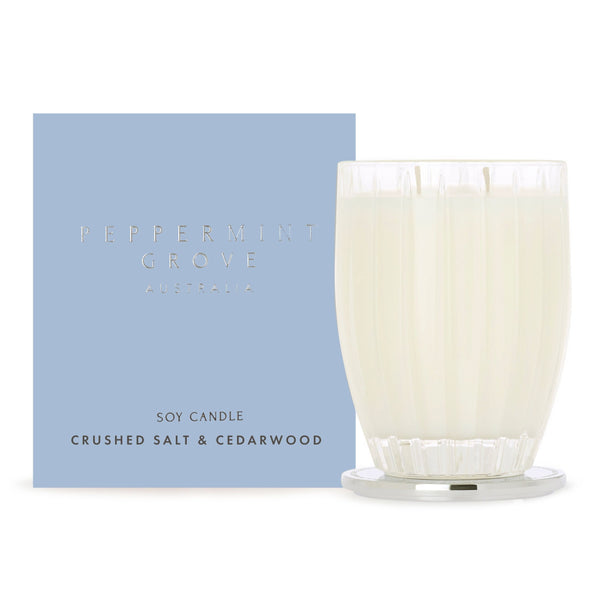 Peppermint Grove Crushed Salt & Cedarwood Candle 350g