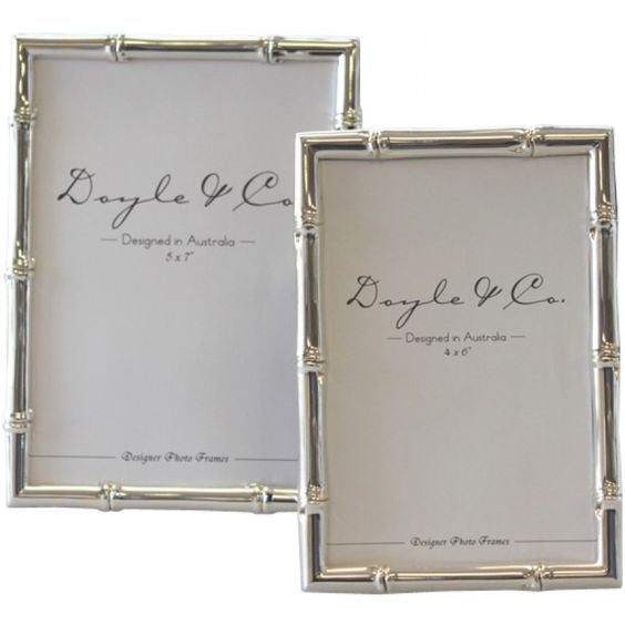 Bamboo Photo Frame Silver Plated