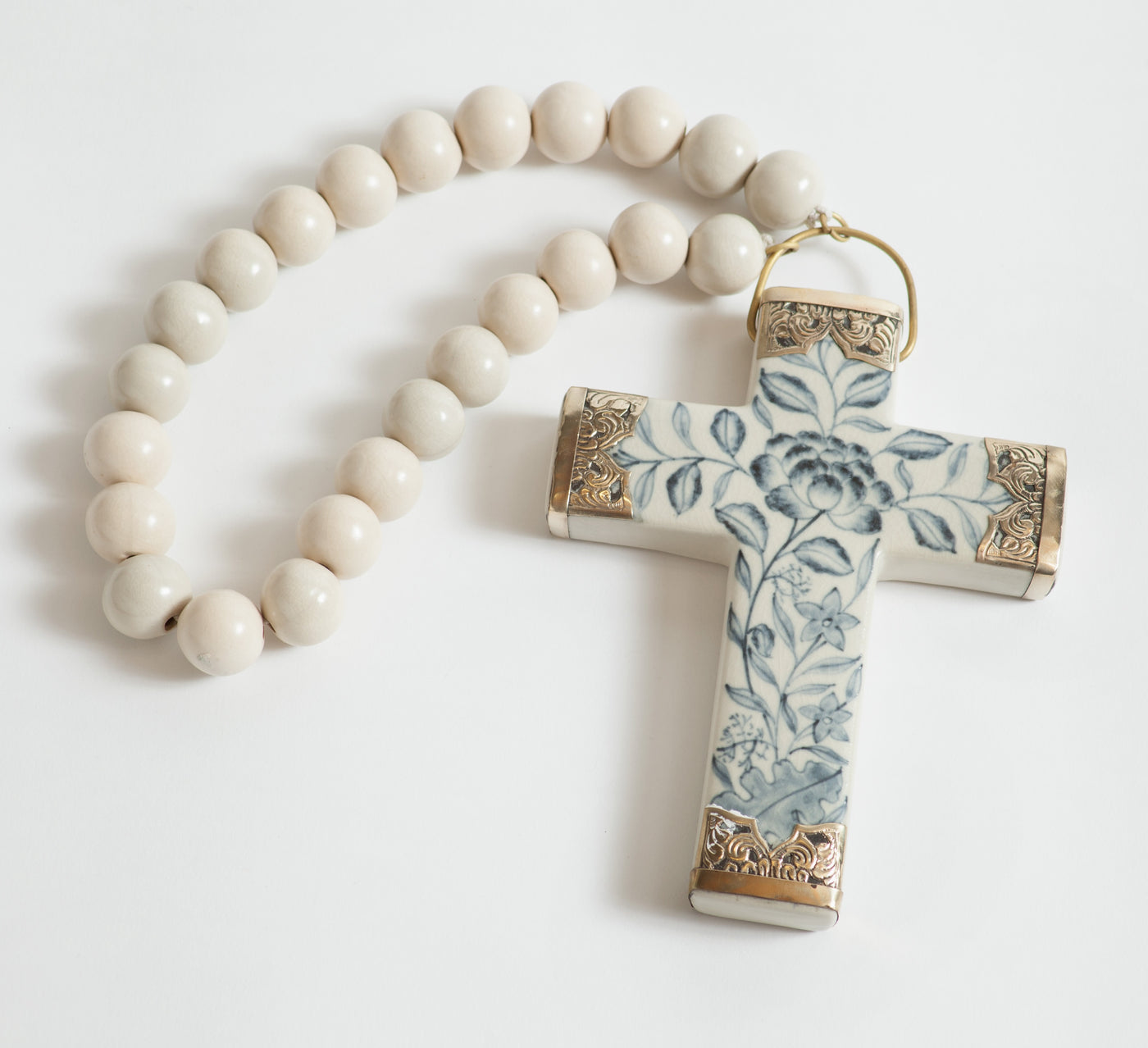 Atlanta Ceramic Cross with Beads