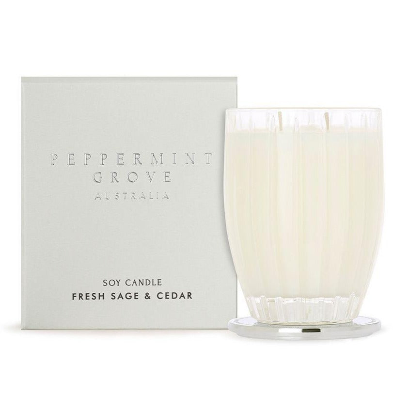 Peppermint Grove Fresh Sage & Cedar Candle 350g