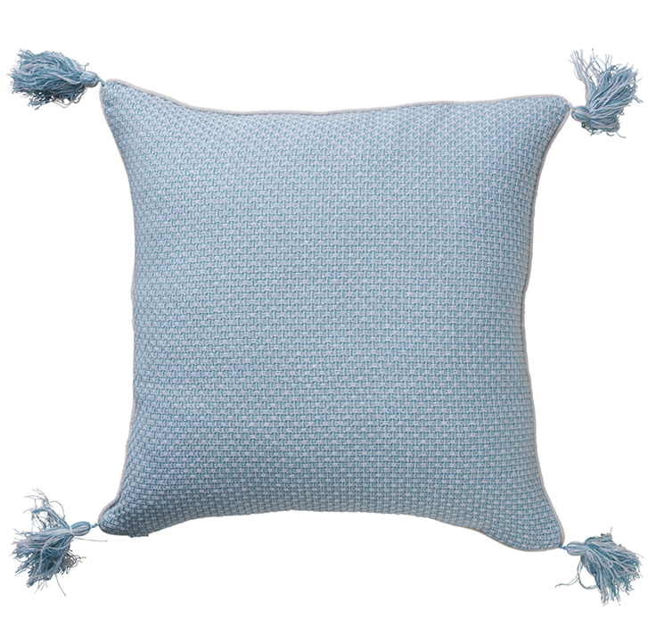 Sky Blue Jacquard Cushion